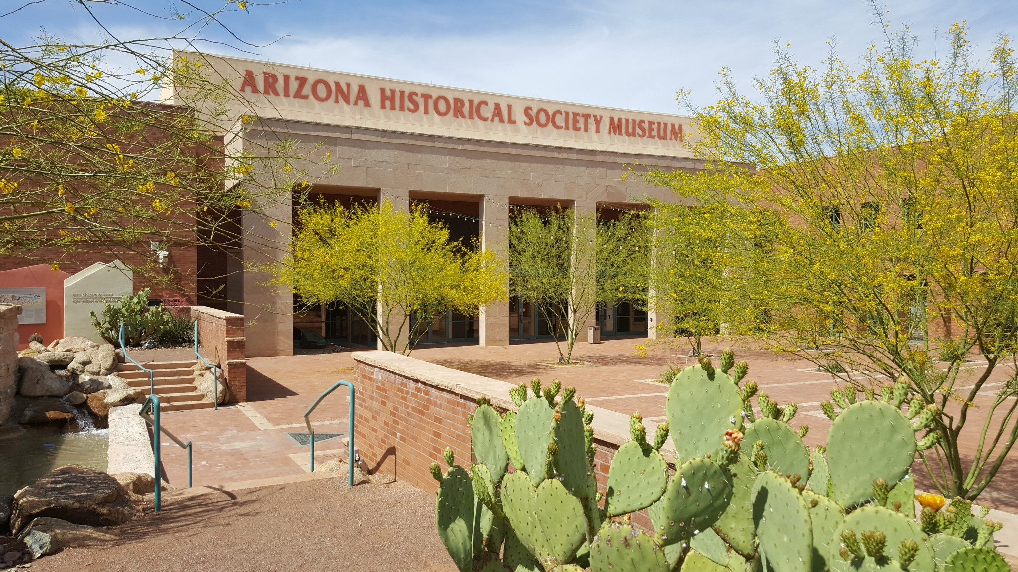 The AZ Heritage Center at Papago Park feaures the Centennial Museum and space for weddings and other events.