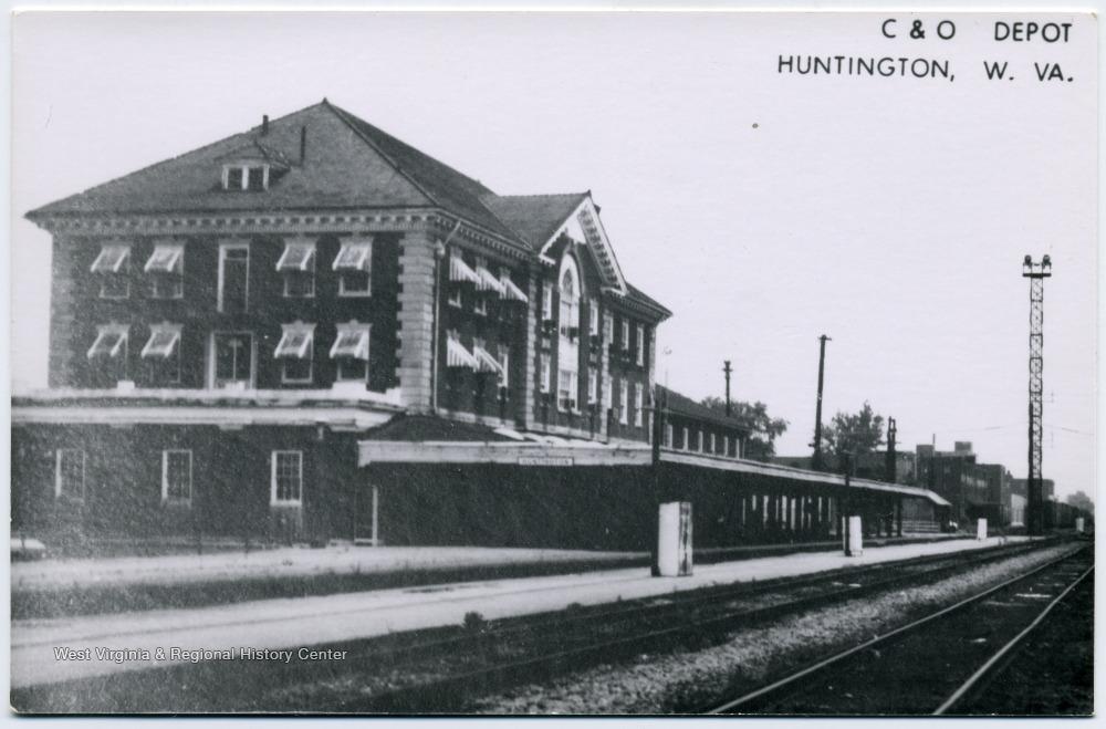 The platform of the C&O depot
