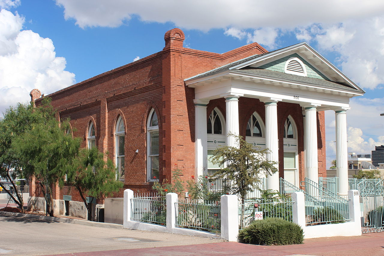 The Old B'nai Zion Synagogue was built in 1912 and was the city's first Jewish synagogue.
