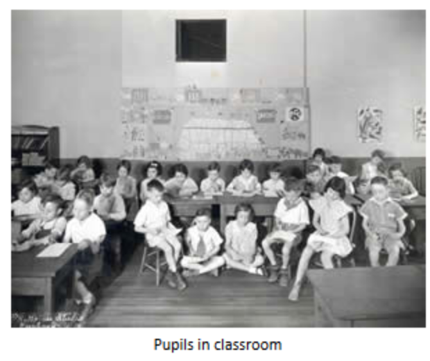 Pupils in a classroom at Oley Elementary
