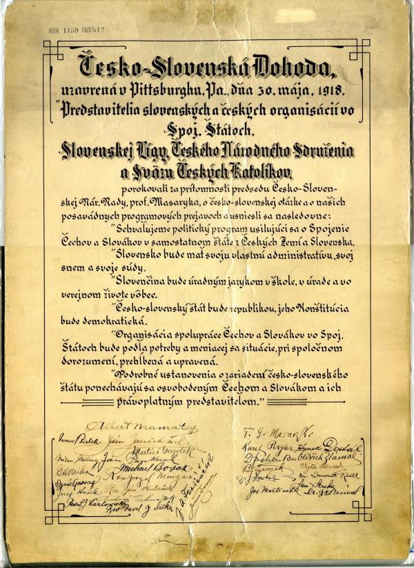 A copy of the Pittsburgh Agreement