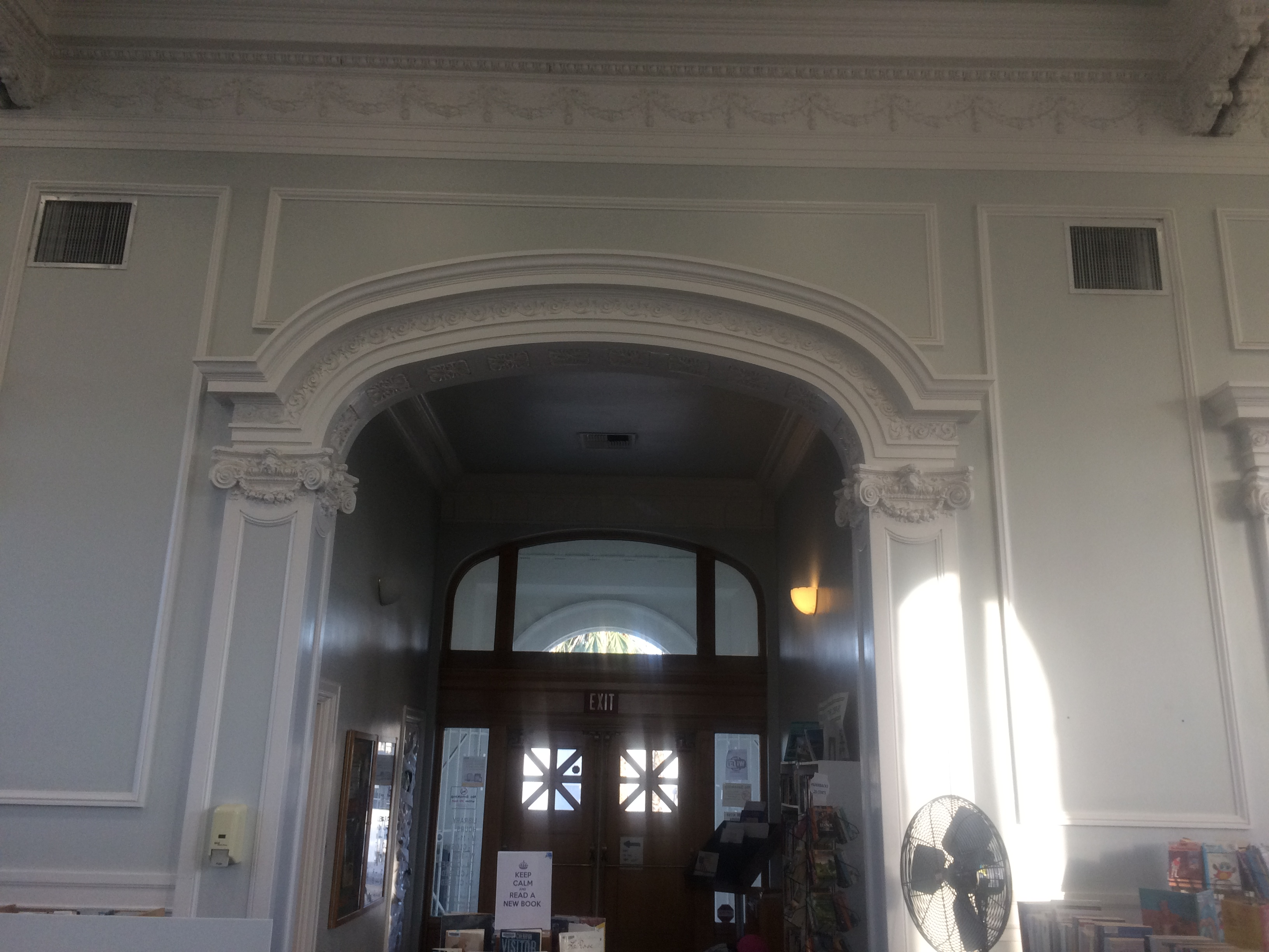 Inside arch (Front of library)