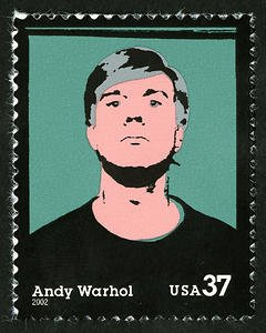 Warhol, who led the 1960s Pop Art movement, was honored through the issuing of this stamp in 2002. Issued in Pittsburgh, this stamp portrays him in the style of his famous screen print works.