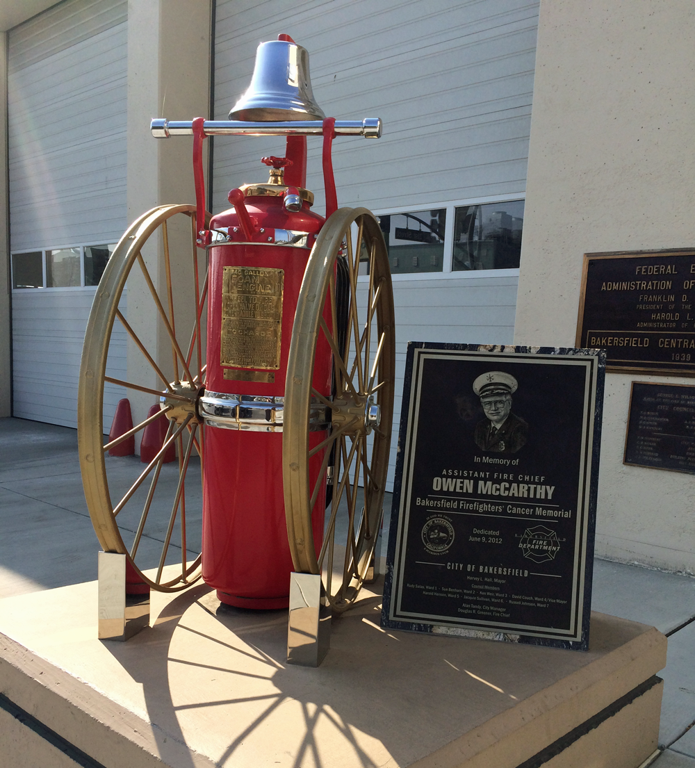 Memorial for Assistant Fire Chief Owen McCarthy.