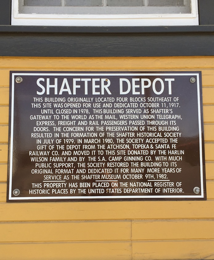 A brief history of the Shafter Depot