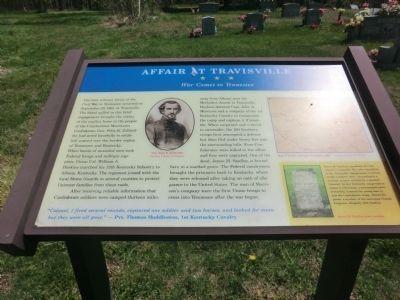 New marker for the Battle of Travisville