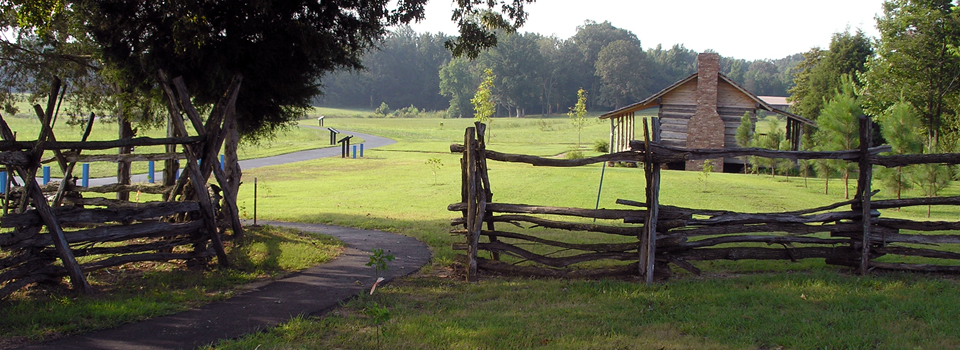 Trail along Parker's Crossroads Battlefield