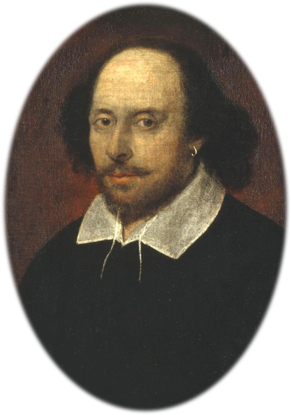"The ""Chandos portrait"" of playwright William Shakespeare"