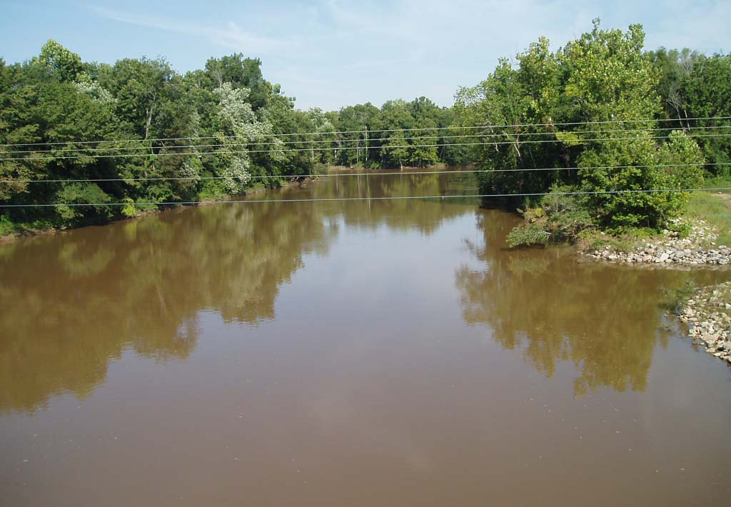 The Hatchie River that Van Dorn was able to cross during the battle