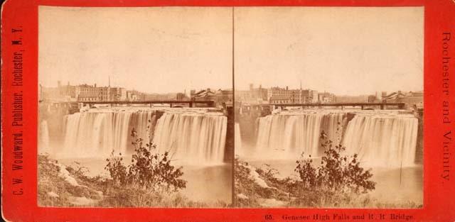 High Falls and the R.R. Bridge (1880)
