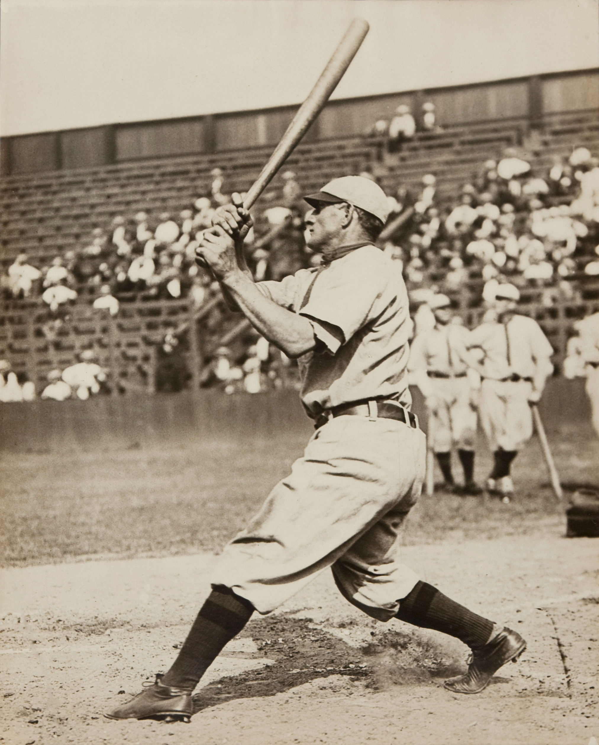 Wagner demonstrating his unique swing.
