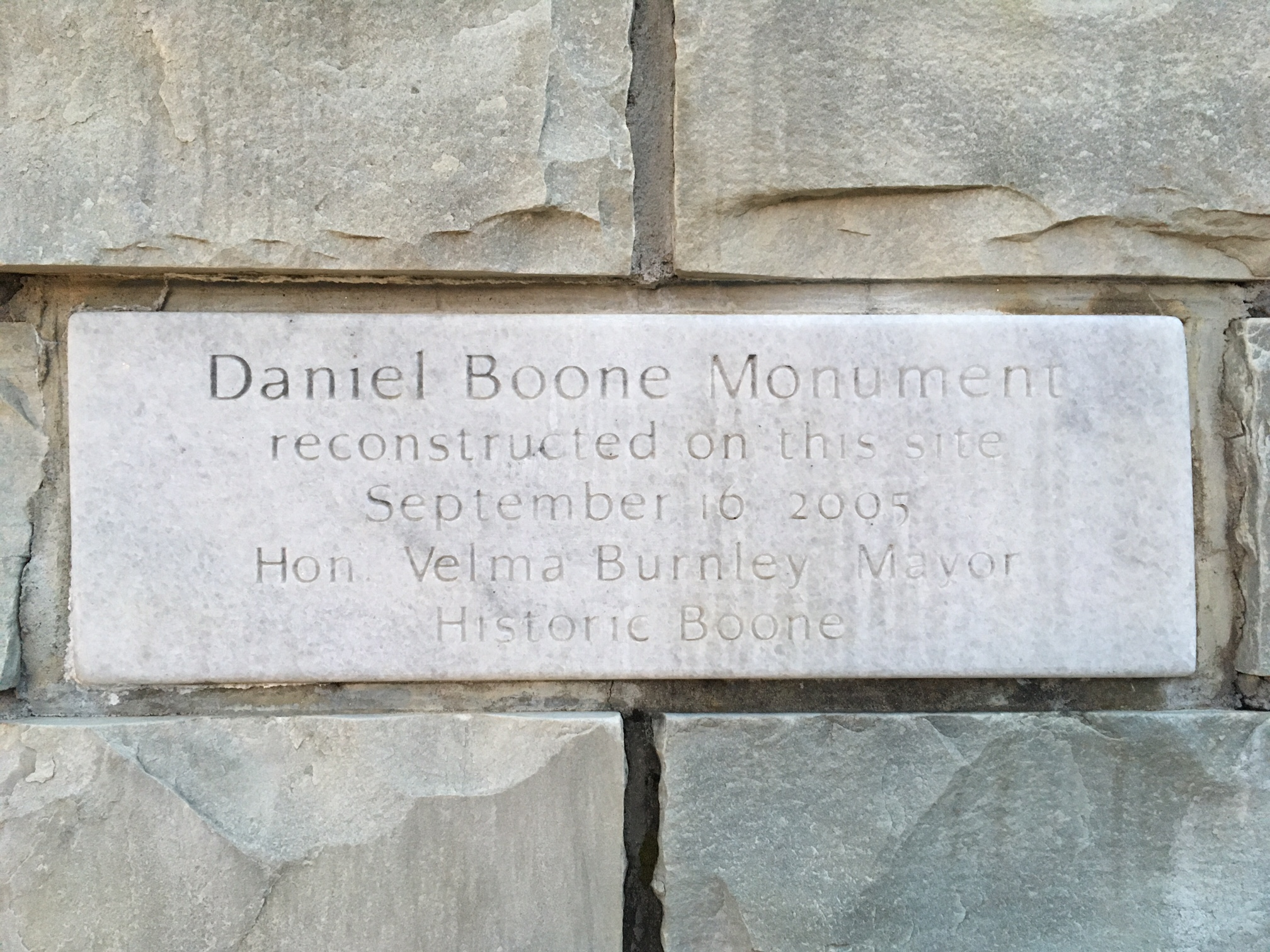 Rededication Plaque