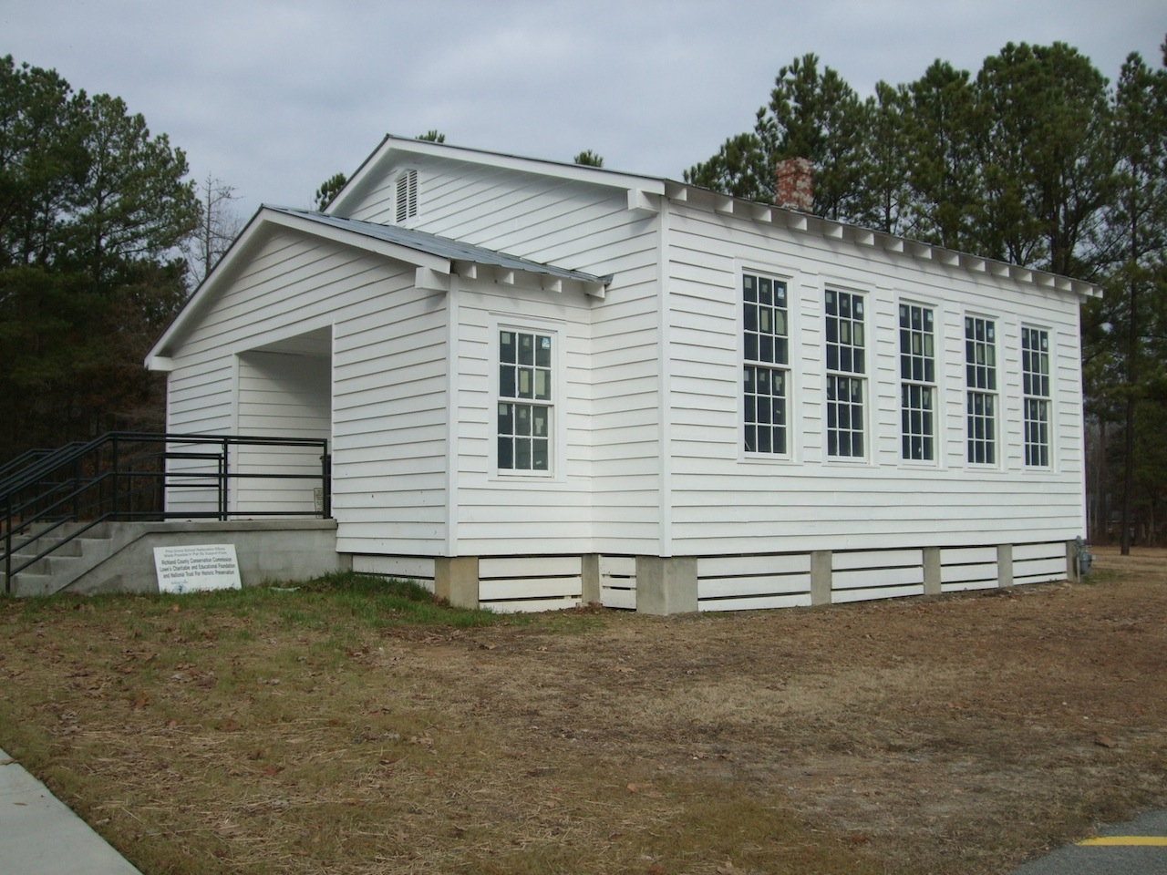 The former Pine Grove Rosenwald School