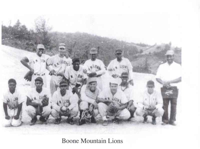 The Boone Mountain Lions was the local baseball team for Junaluska that played against other teams and participated in competitions.
