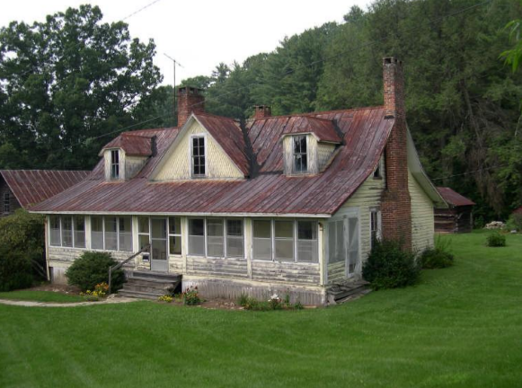 The actual home and main building on the Henry Blair Farm property.