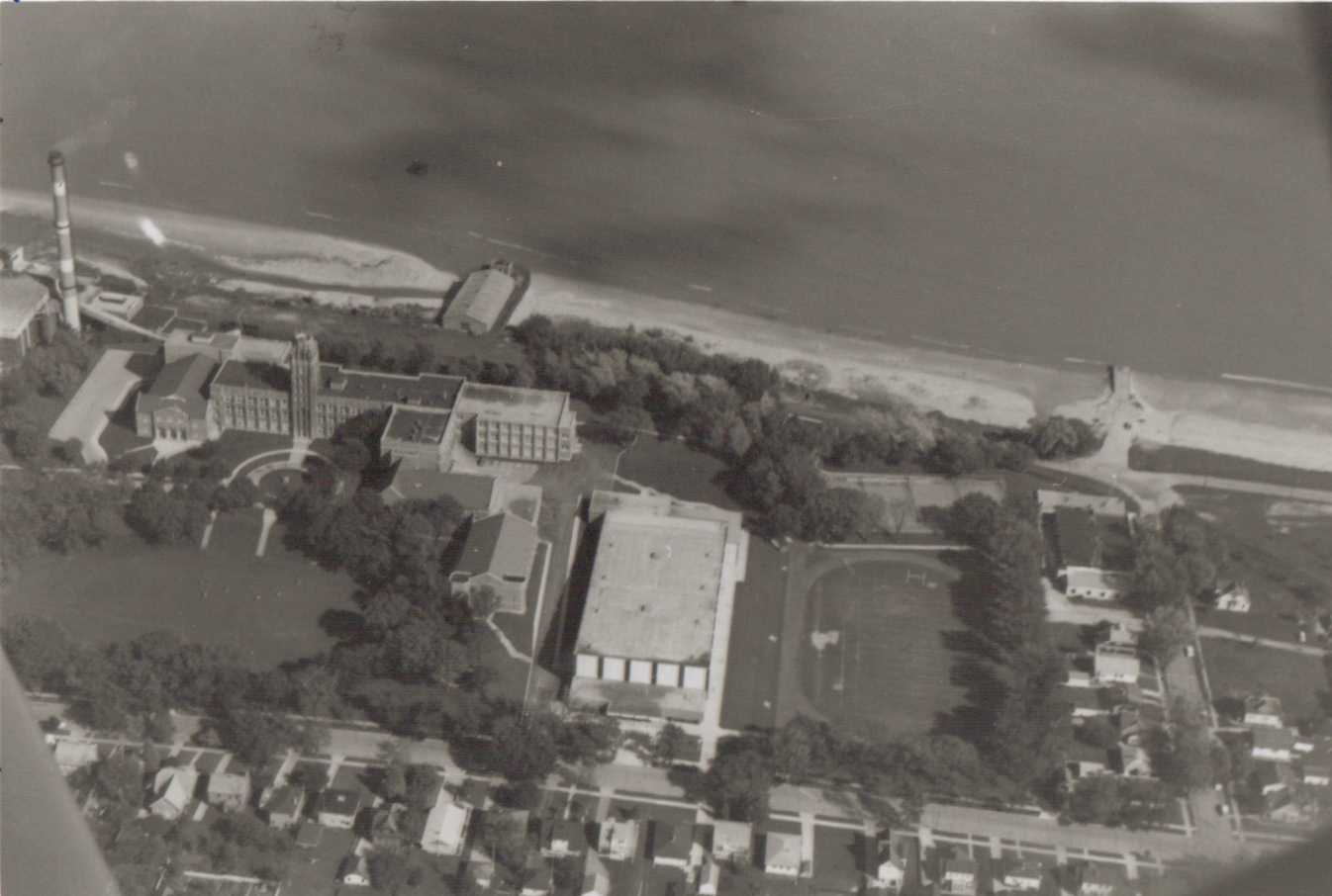 Aerial image of Lincoln's campus