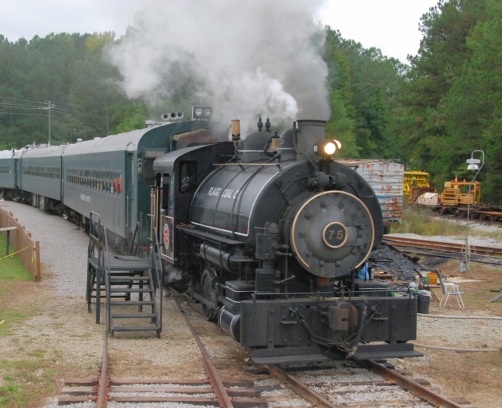 One of the operating steam locomotives at the museum