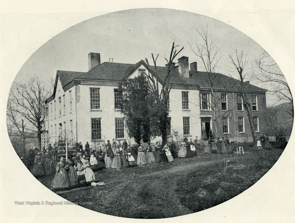 Woodburn Female Seminary while still under the oversight of Elizabeth Moore. Photo taken in 1865, two years before the building was acquired by the state.