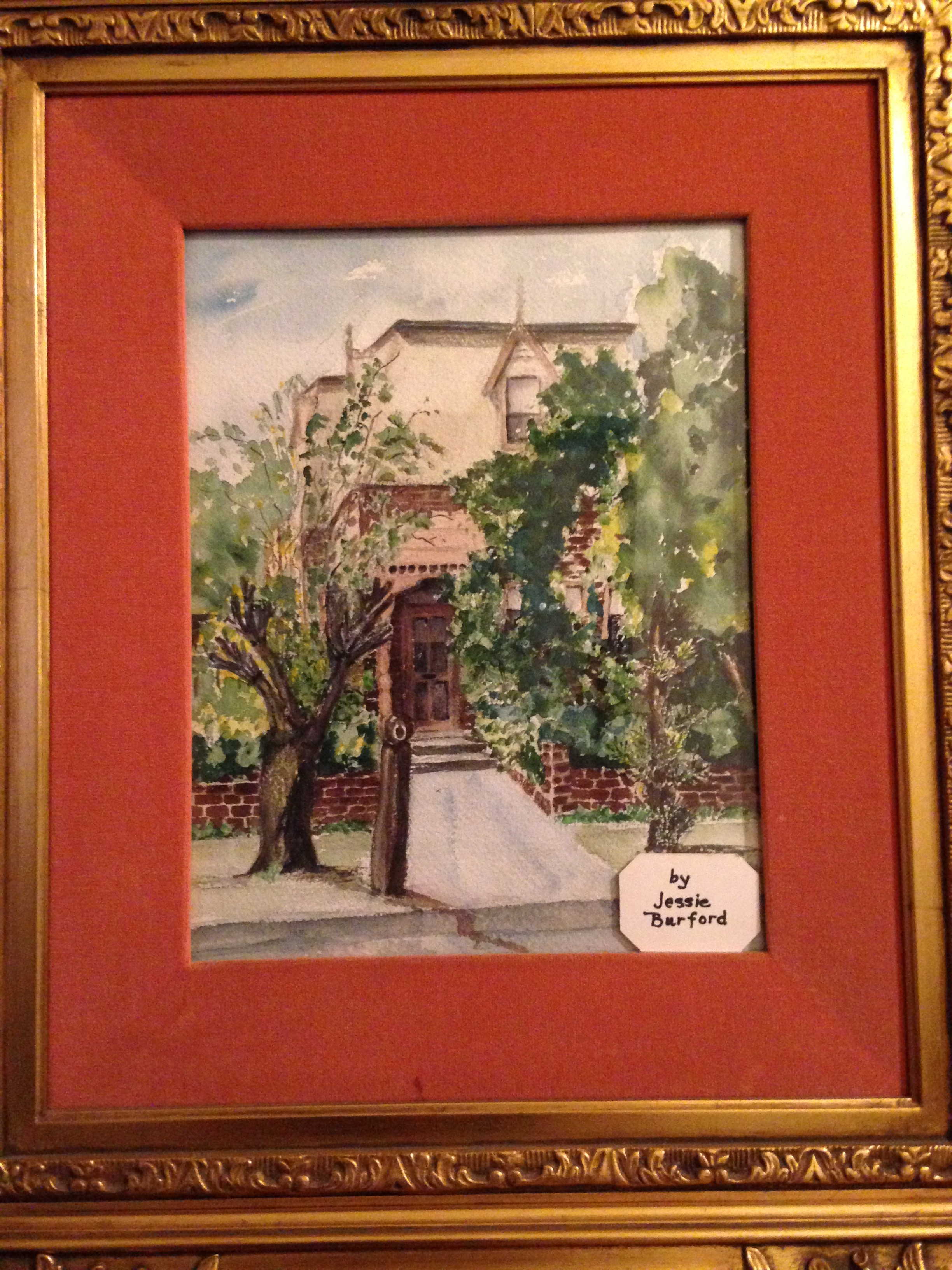 A painting done by Anne Zalud of the Zalud House.
