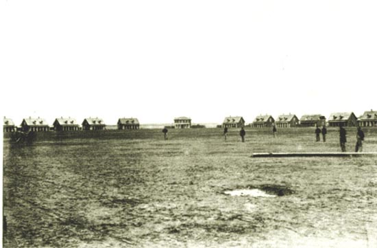 Earliest known photo of the fort, 1868