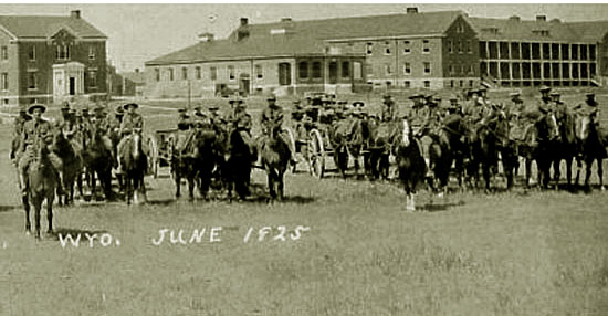 Cavalry in the fort, 1927