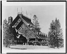 The Inn as seen in 1935 when it was featured in the film, Yellowstone, made the same year.