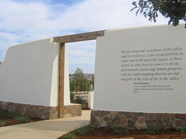 Alviso Adobe Community Park entrance (image from PGA Landscape Designers)