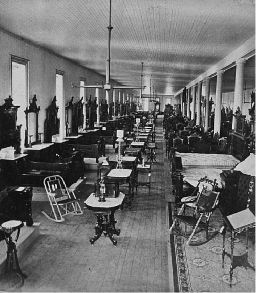 A Berkey & Gay Company Showroom in 1880