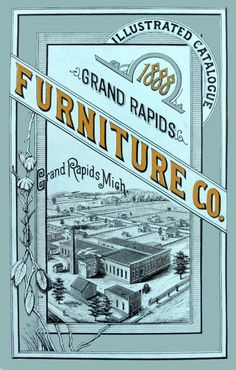 Colorful catalogs showcasing furniture pieces and sets were an innovative new way for manufacturers to sell their products.