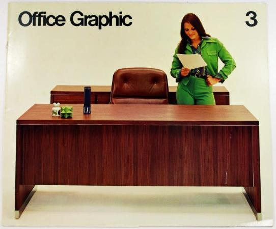 A 1973 Steelcase catalog. Steelcase was able to survive and thrive as a company by producing metal office furniture after other companies that made wooden furniture shut down. Steelcase is still headquartered in Grand Rapids and is the largest manufacture