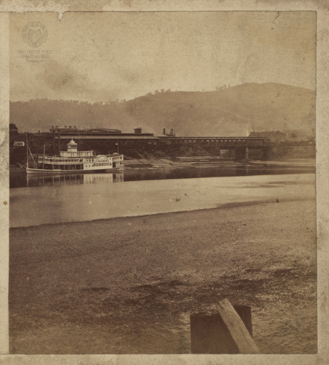 An early stereoview of the terminal that occupied the grounds prior to its rebuilding in 1906-1908.  This photograph was taken between 1867-1869.