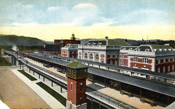 The Wheeling B&O  Railroad Passenger Station in its heyday.