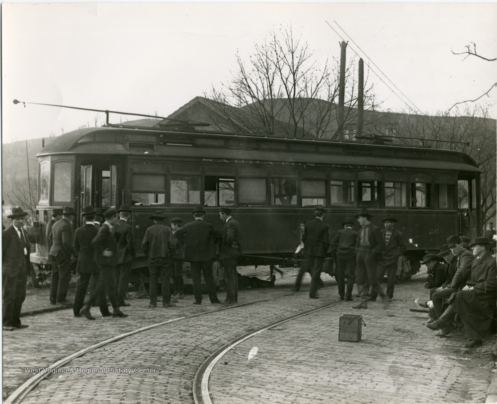Trolley car in Sabraton, which George Sturgiss had constructed to serve the workers of the mill.