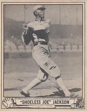 A vintage 1940s baseball card of Joe Jackson.
