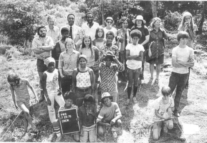 Local volunteers of 1976 dig.