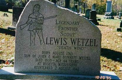 Lewis Wetzel headstone