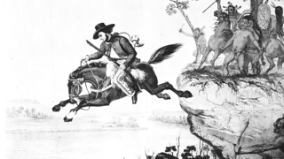 Depiction of McCulloch's Leap.