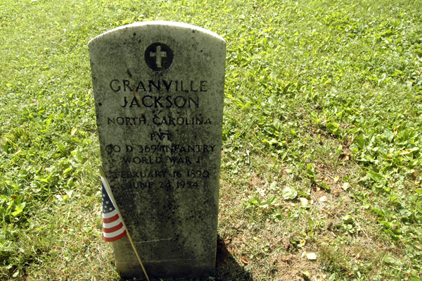 The second of the two remaining headstones in the black section of the cemetery.