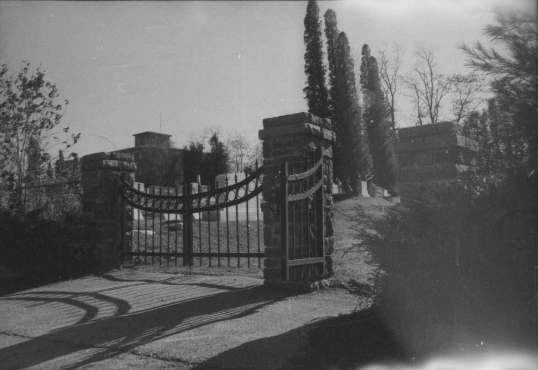 Photograph of the Town of Boone Cemetery, AC.112: Watauga County Historical Site Survey Records, W. L. Eury Appalachian Collection, Appalachian State University, Boone, North Carolina, USA.