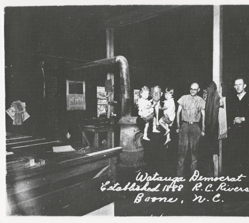 Bob Rivers Sr and Staff at the printing office in 1930