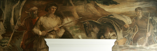 """Daniel Boone on a Hunting Trip in Watauga County"" by Alan Tompkins, 1940"