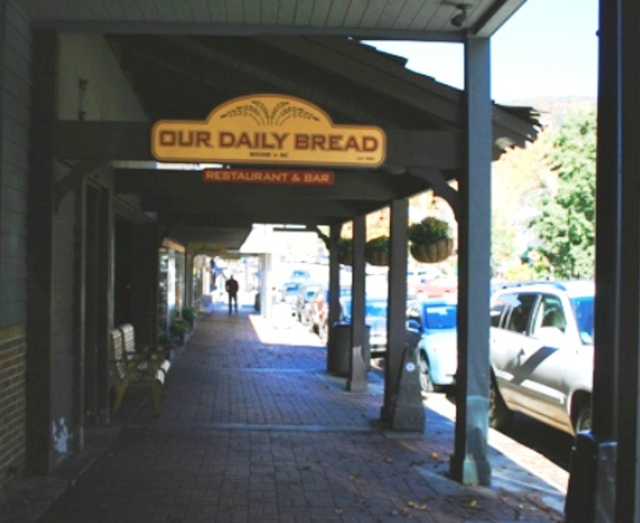 The building is now home to Our Daily Bread, a local eatery that is open daily.
