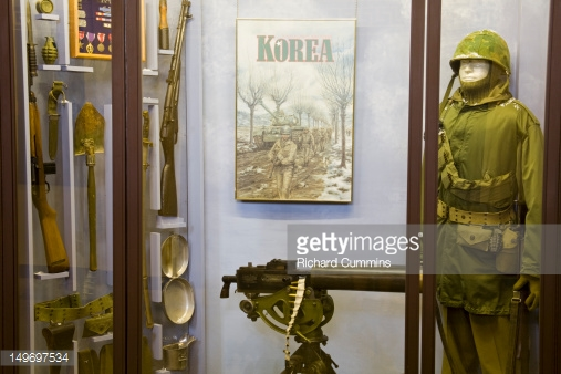 Military artifacts from the Korean War.
