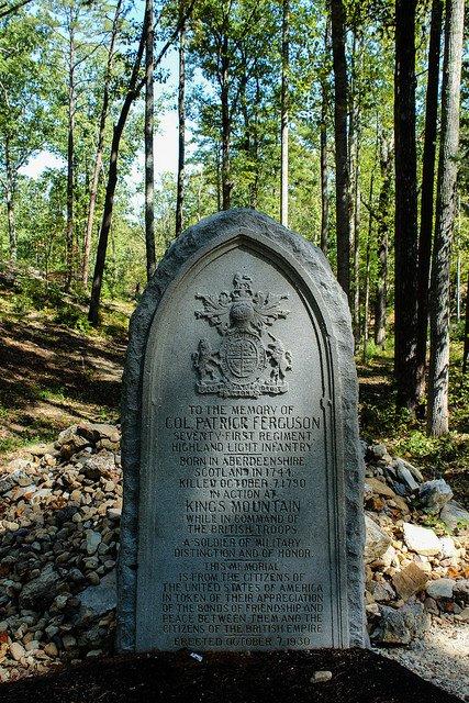 The tombstone of Major Patrick Ferguson