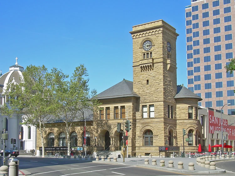 Modern view of the San Jose Art Museum (image from California Travel)