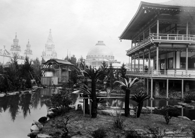 Japanese Pavilion of the Panama-Pacific International Exposition in San Francisco 1915, which inspired the estate's design (image from Hakone Estate and Gardens)