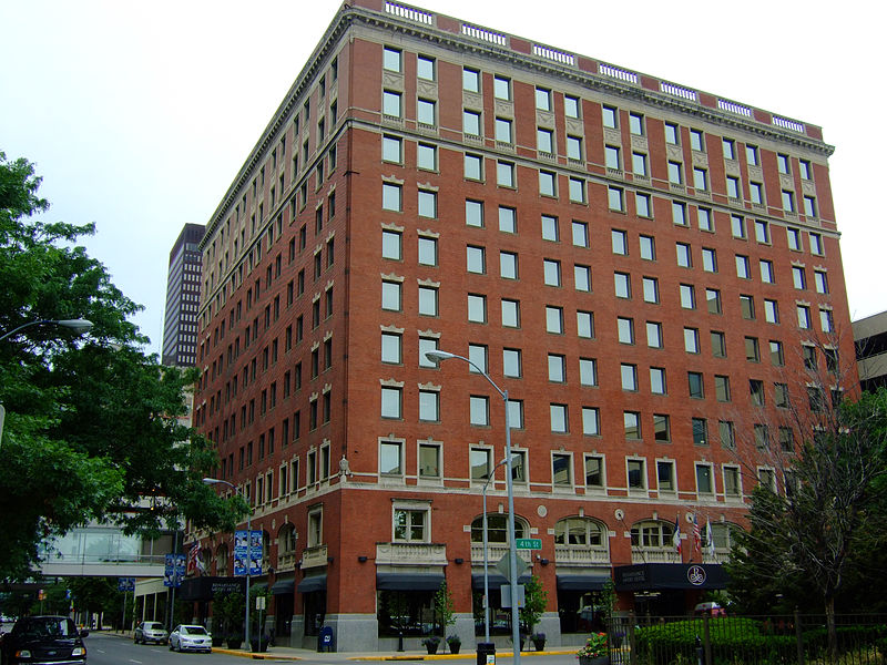 The Savery Hotel opened in 1919 and is now part of the Marriott chain.