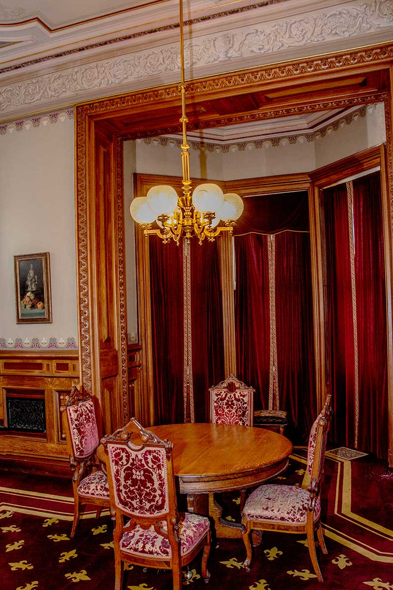 The furniture of the Dining Room