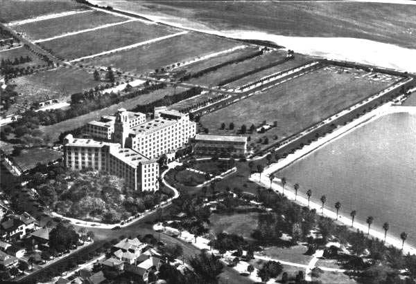 This aerial view of the Vinoy in the late 1920s demonstrates the way that Saint Petersburg grew as a direct result of the construction of major hotels like the Vinoy.