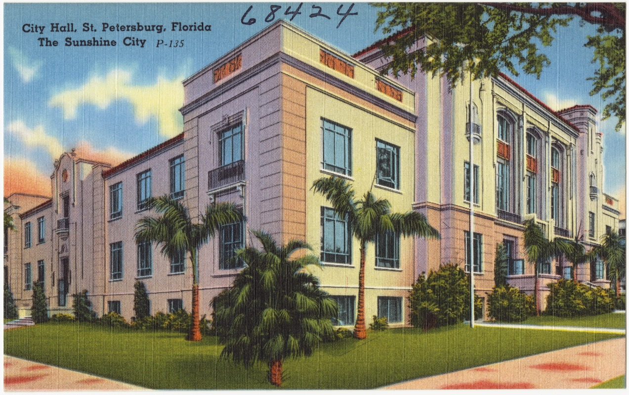 This postcard was created shortly after the completion of the building in 1939.